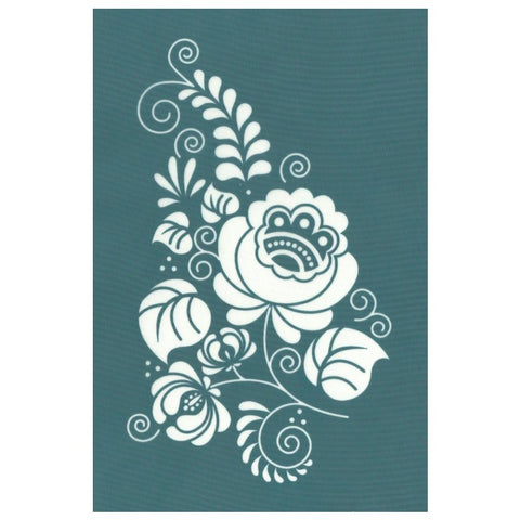 DIY Silk Screening Ornate Floral Design Stencil