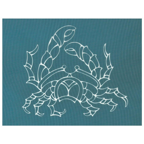 DIY Designer Silk Screen Stencil, Ocean Animal Sea Life Crab