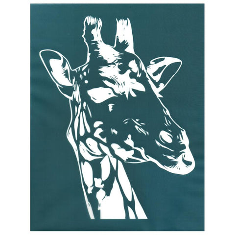 DIY Screen Print Design Stencil Giraffe Head Face