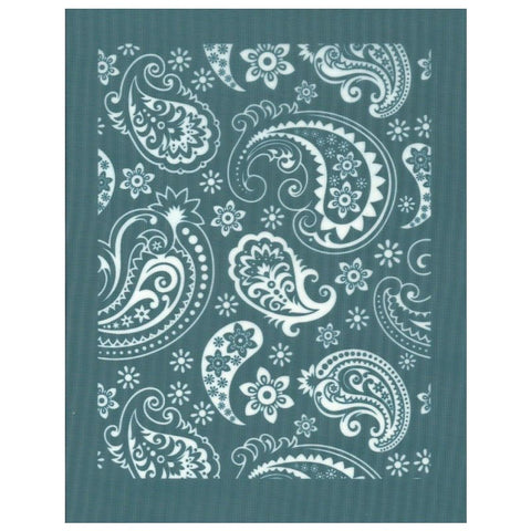 DIY Silk Screen Printing Paisley Stencil