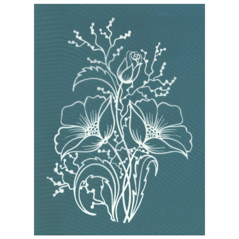 DIY Screen Printing Flower Arrangement Bouquet Silk Screen Stencil