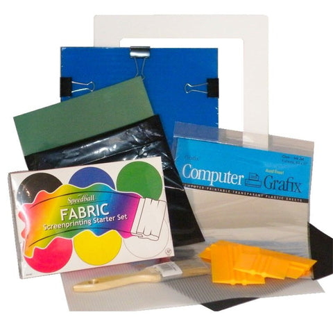 DIY Screen Printing Complete Kit Primary Fabric Inks