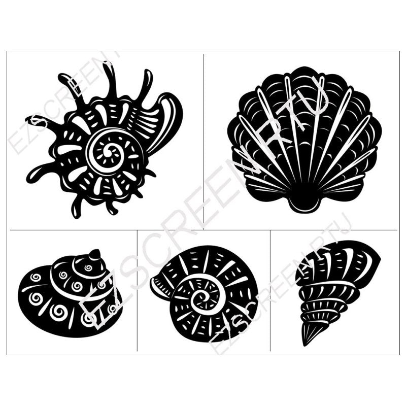 DIY Screen Printing Nautical Seashells Design Silk Screen