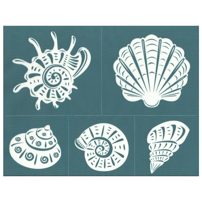 It is a picture of Geeky Free Printable Seashell Stencils