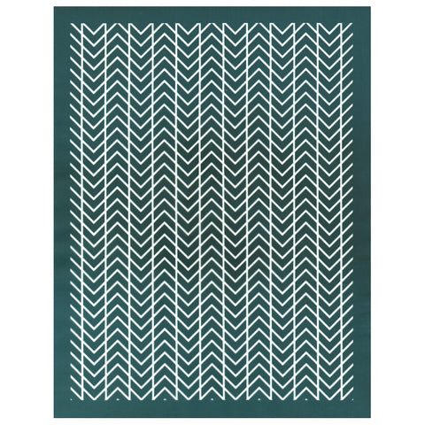 DIY Screen Printing Art Deco Chevron Pattern Design Silkscreen Stencil