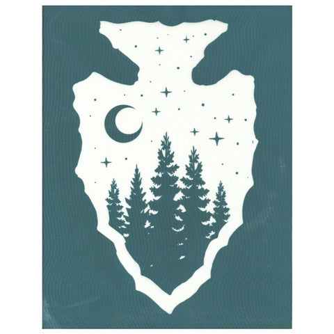 DIY Screen Printing Stencil Stars Moon Arrowhead Design