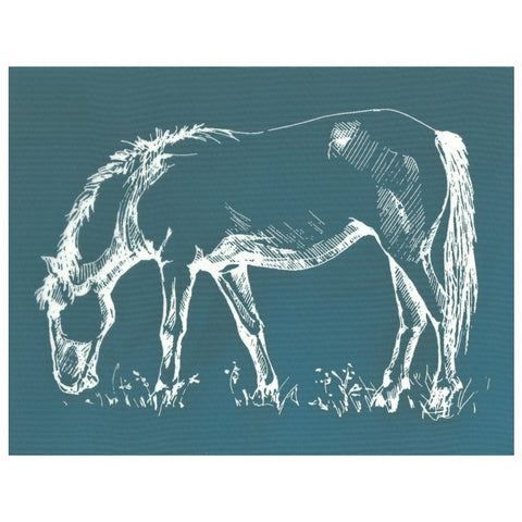DIY Screen Printing Ready to Use Farmhouse Horse Silkscreen Stencil