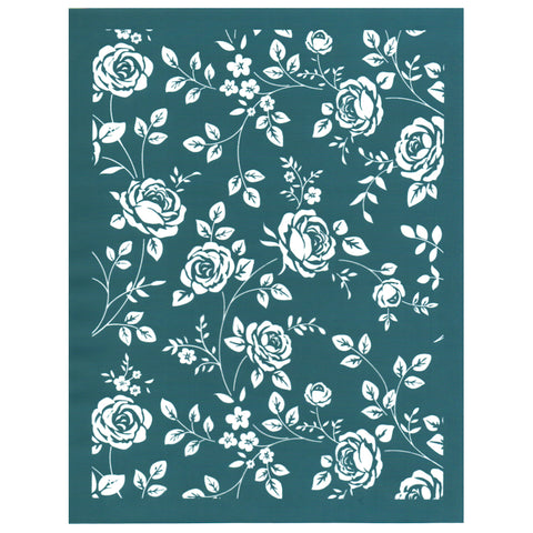 DIY Screen Printing Ready To Use Design Stencil Old World Rose Pattern