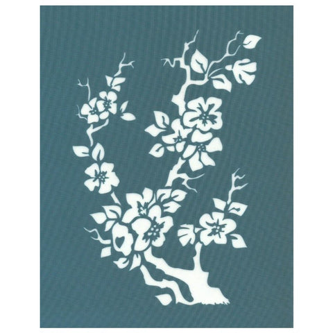DIY Designer Silk Screen Stencil Cherry Blossom