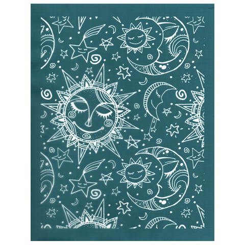 DIY Silk Screen Printing Designer Stencil, Celestial Night Sky Pattern