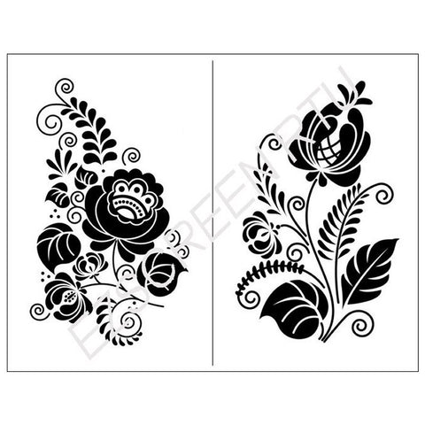 Silk Screen Stencil Ornate Floral Design