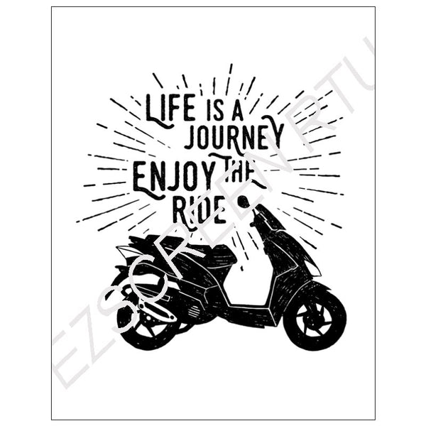 DIY Screen Printing At Home, Life is a Journey Scooter