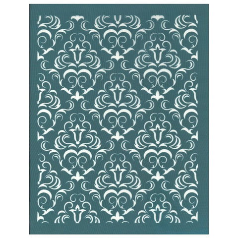 DIY Screen Print Design Stencil Damask Wallpaper