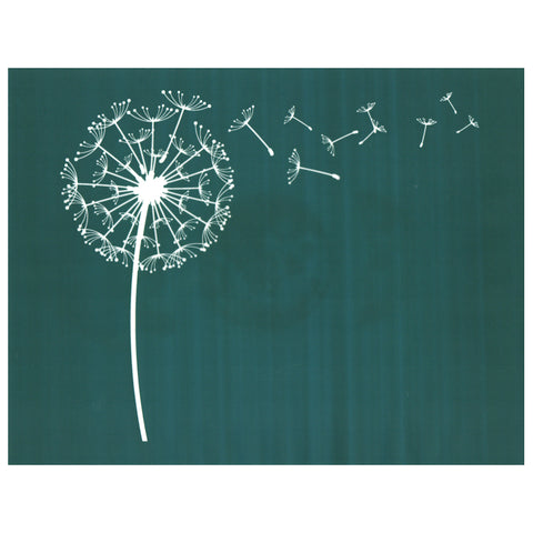 Dandelion Blowing in the Wind DIY Silk Screen Printing Design Stencil