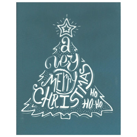 DIY Silk Screen Print Christmas Tree Design Stencil