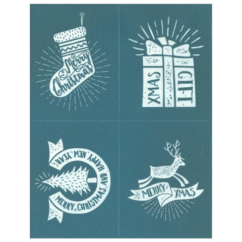 DIY Screen Printing Christmas Labels Design Stencil