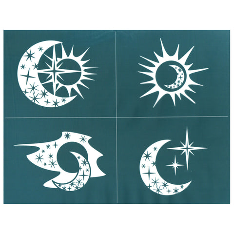 DIY Silk Screen Design Stencil Celestial Sun Moon Stars