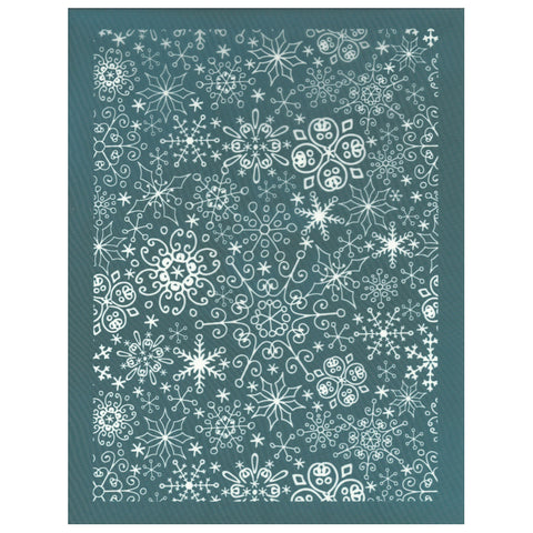 Christmas Holiday Snowflake Pattern Silk Screen Design Stencil