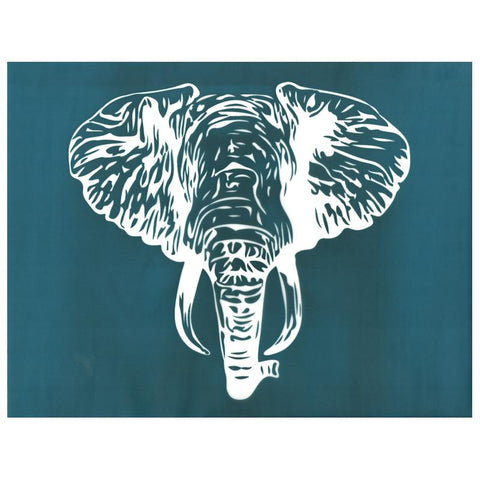 DIY Silk Screen Print Design Stencil Elephant Face Head