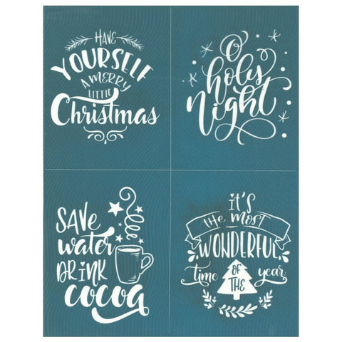 DIY Silk Screen Print Christmas Quotes Stencil