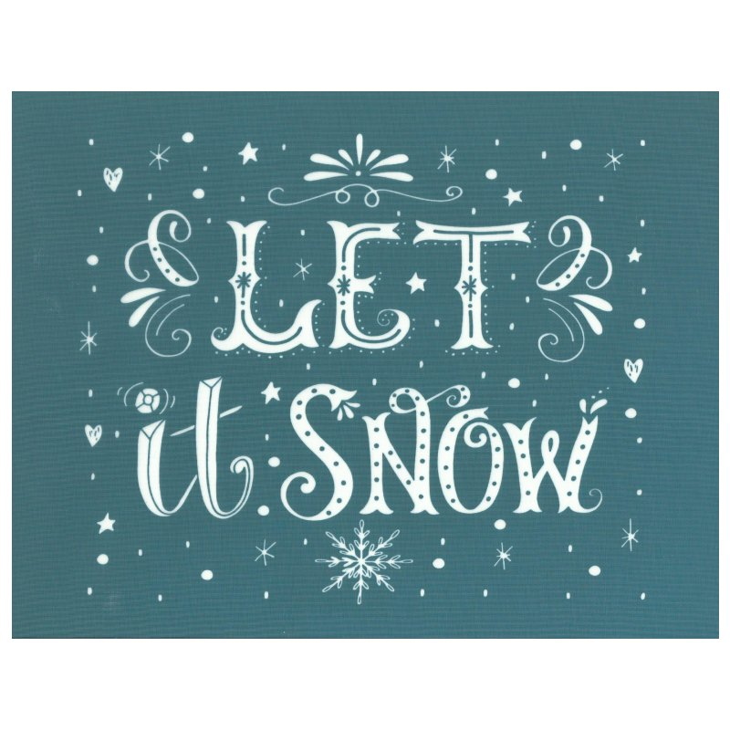 Ready To Use Silk Screening Stencil Christmas Let It Snow