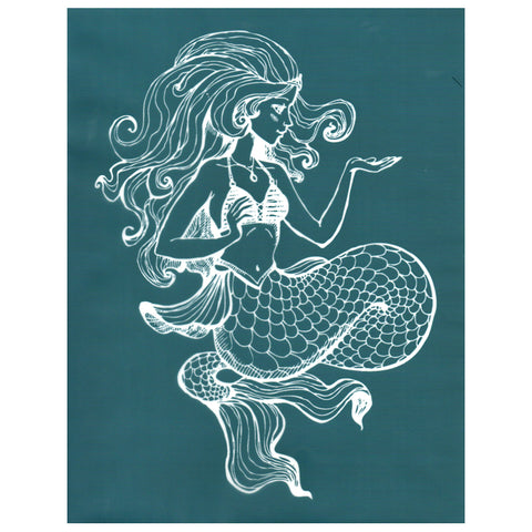 DIY Designer Silk Screen Stencil Alluring Mermaid Design
