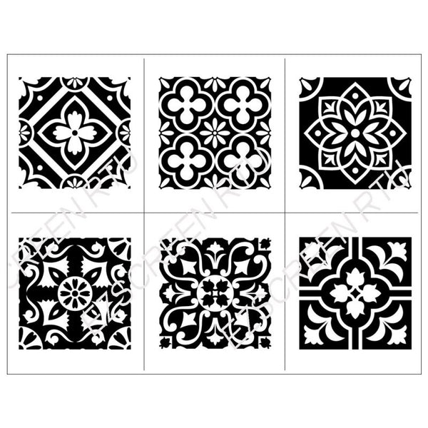 DIY Screen Printing, Tile Silk Screen Stencil Floral ...