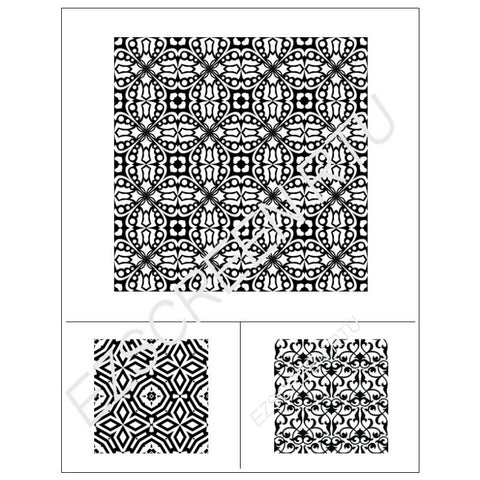 DIY Silk Screen Print Stencil Geometric Square Design