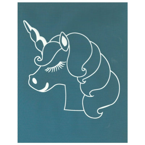 DIY Silk Screen Designer Stencil Cute Unicorn