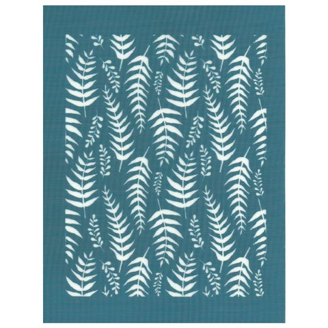 DIY Silkscreen Fern Leaves Design Stencil