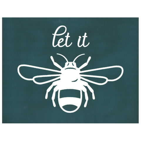 DIY Silk Screen Printing Designer Stencil, Let It Bee