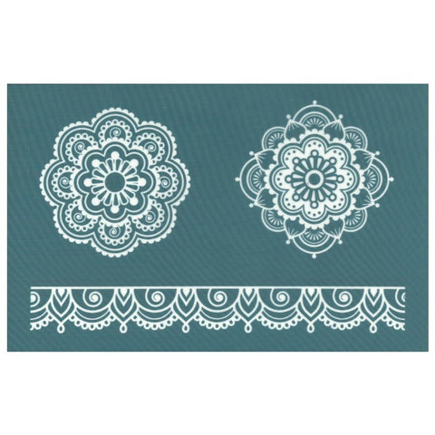 Silk Screen Print Stencil Polymer Clay Mandalas Mehndi Lace
