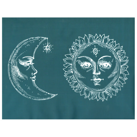 DIY Silk Screen Print Stencil Cosmic Celestial Sun Moon Faces