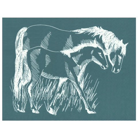 DIY Screen Printing Farmhouse Horse Silkscreen Stencil