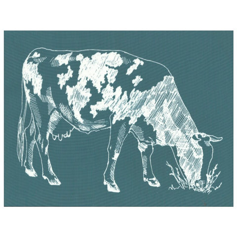 DIY Screen Printing Farmhouse Cow Silkscreen Stencil