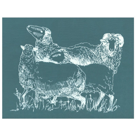 DIY Screen Printing Farmhouse Sheep Silkscreen Stencil