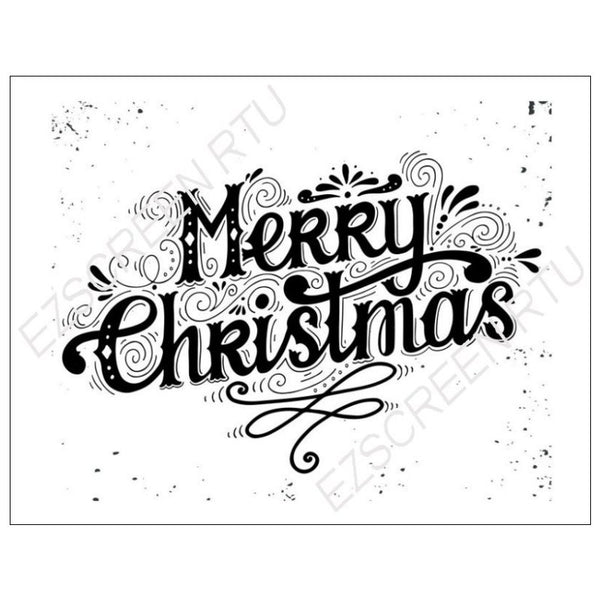 Ready To Use Screen Printing Wood Stencil, Merry Christmas