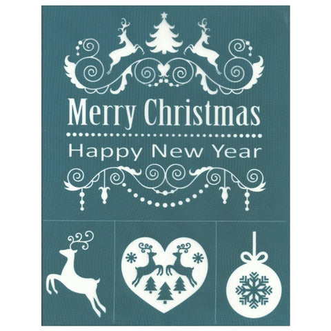 DIY Silk Screen Designs Christmas Stencil