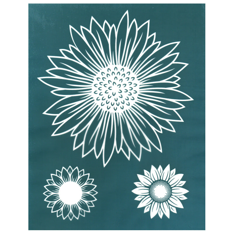 SMALL Dhalia stencil 1 Choose size and thickness