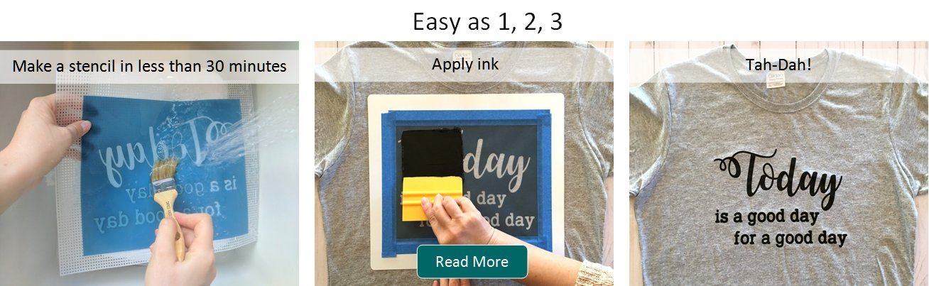how to make a silk screen printer at home