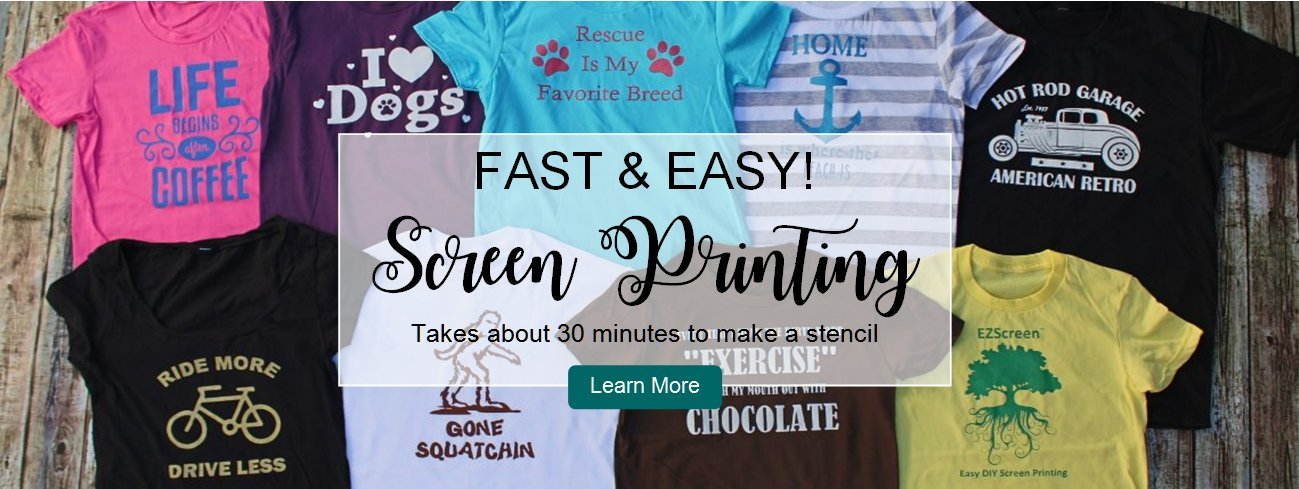 DIY screen printing t-shirts