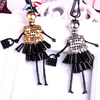Image of Handmade Beaded Dress Doll Pendant Necklace