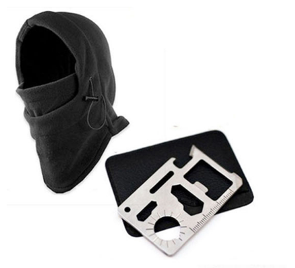 Balaclava Ski Mask And Survival Kit Knife Card