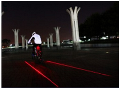 Bicycle 5 LED Plus 2 Laser Tail Safety Light