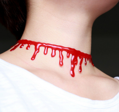 Bloody Cut Prop Necklace