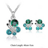 Image of Crystal Butterfly Necklace And Earrings Set
