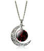 Image of Galaxy Glass Art Moon Necklace