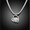 Image of Floating Inlaid Stone Hearts Charms Necklace
