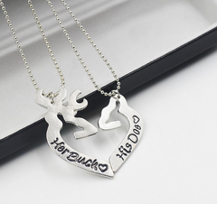 Her Buck His Doe 2pc Necklace