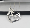 Image of Her Buck His Doe 2pc Necklace